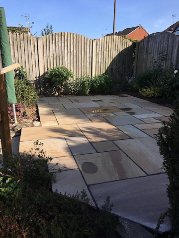 New patio by Dodson Landscapes